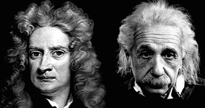 Newton et Einstein en question